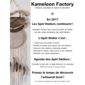 flyer pour Apéra'Atelier Kameleon Factory