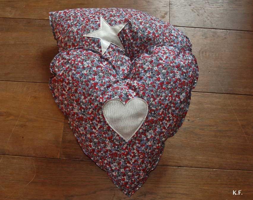 Réaliser un coussin Coeur