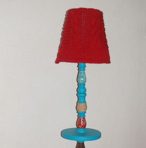 Lampadaire Gipsy bleu réalisé par Kameleon Factory