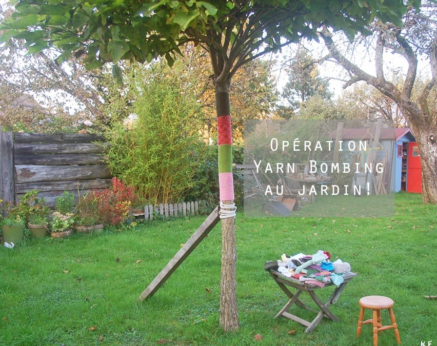 Yarn Bombing DIY au jardin