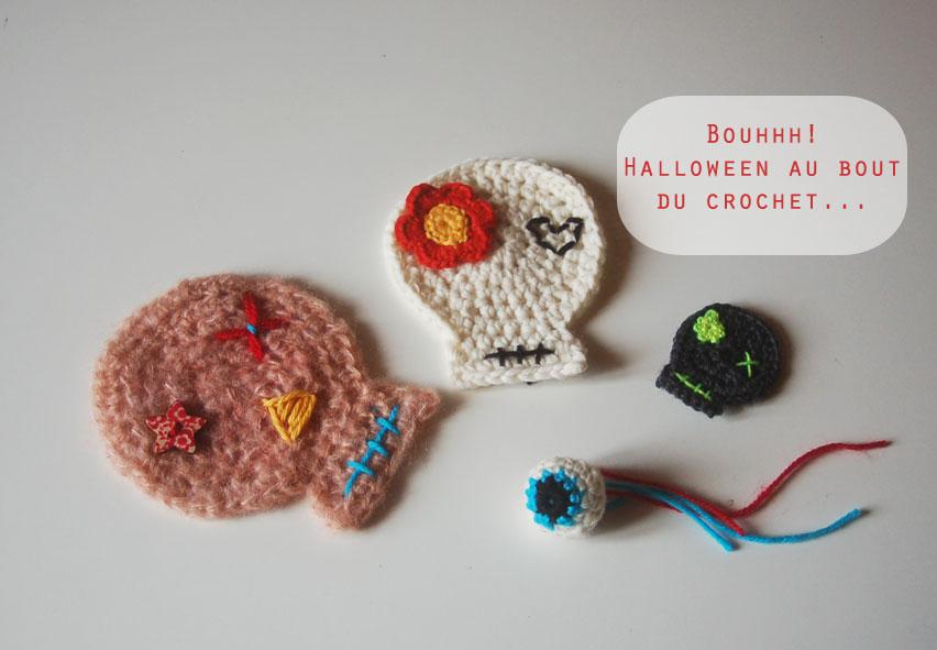 Halloween en préparation au crochet