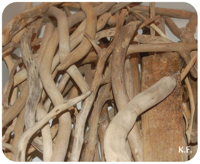 Stock de bois flottés
