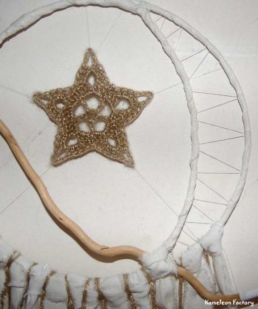 Attrapeur de rêve étoile de lune détail cercle