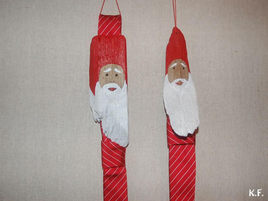 Père Noël bois flotté en cravate et autres déco