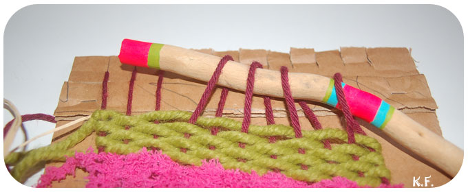 Démontage des fils de chaîne