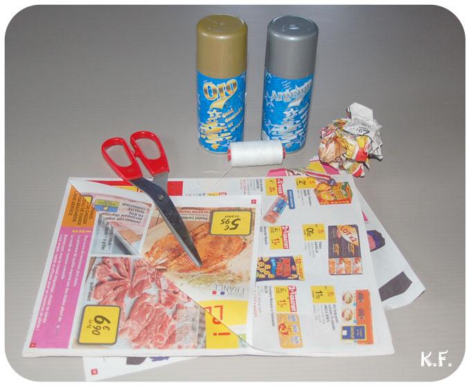 matériel pour faire les boules de noël express