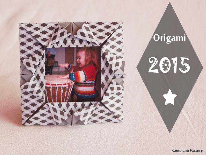 Création pour la Nouvelle année #3 Cadre origami