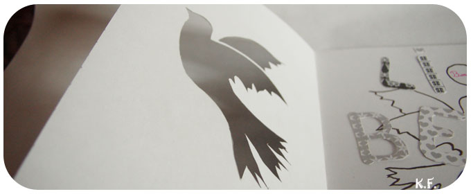 l'envol d'un oiseau à main levée