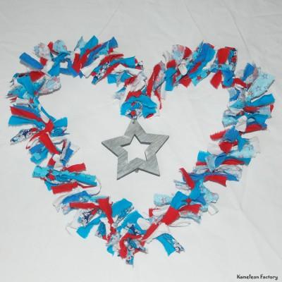 Couronne décoration murale coeur