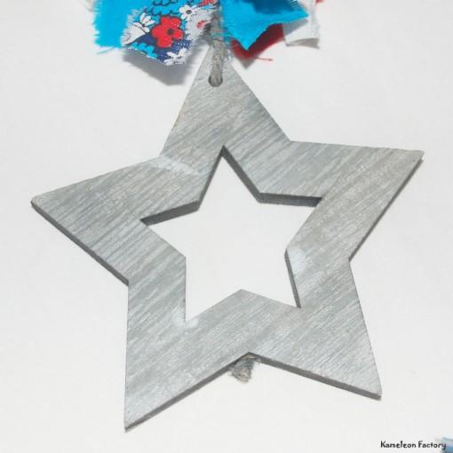 Couronne décoration murale coeur étoile