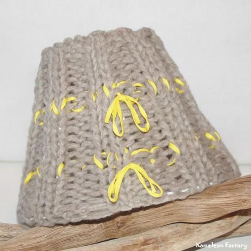 abat-jour en tricot