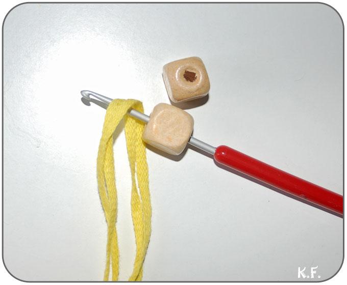 Suspension macramé avec perle