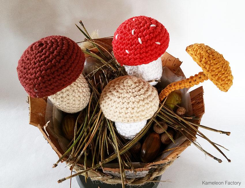 champignon déco au crochet