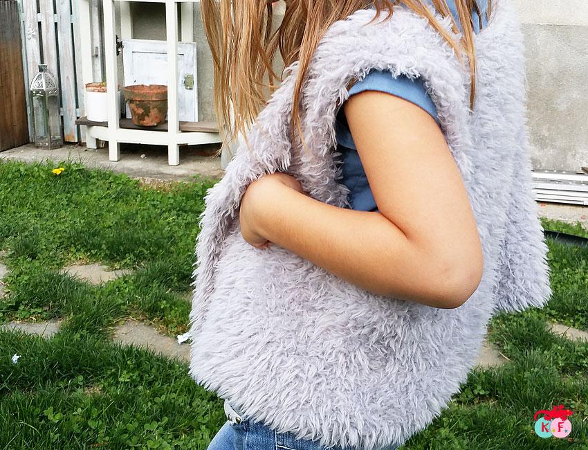 tricot gilet sans manche