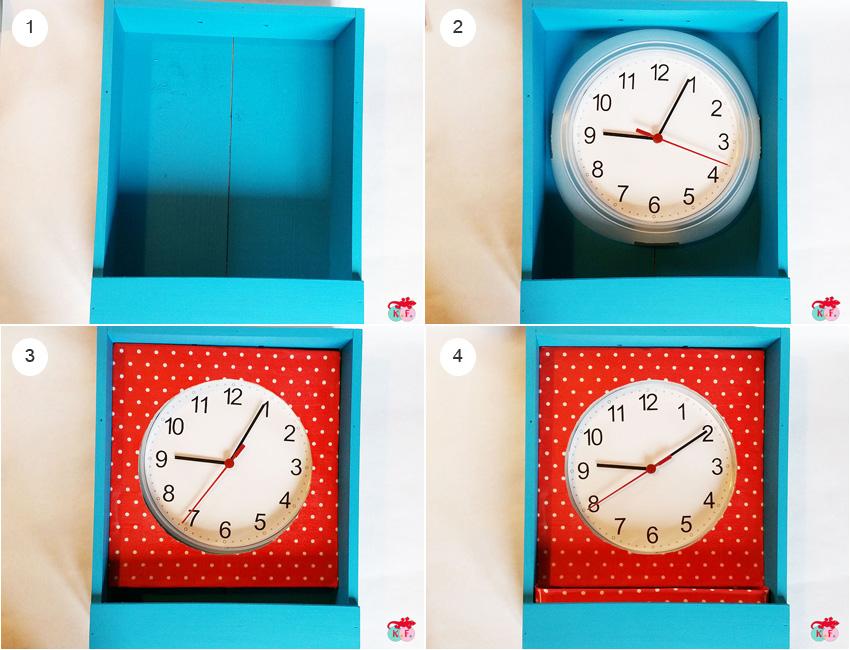 montage horloge pendule carillon étagère