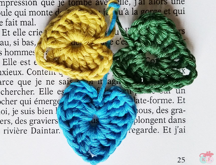 mini coeur crochet diy