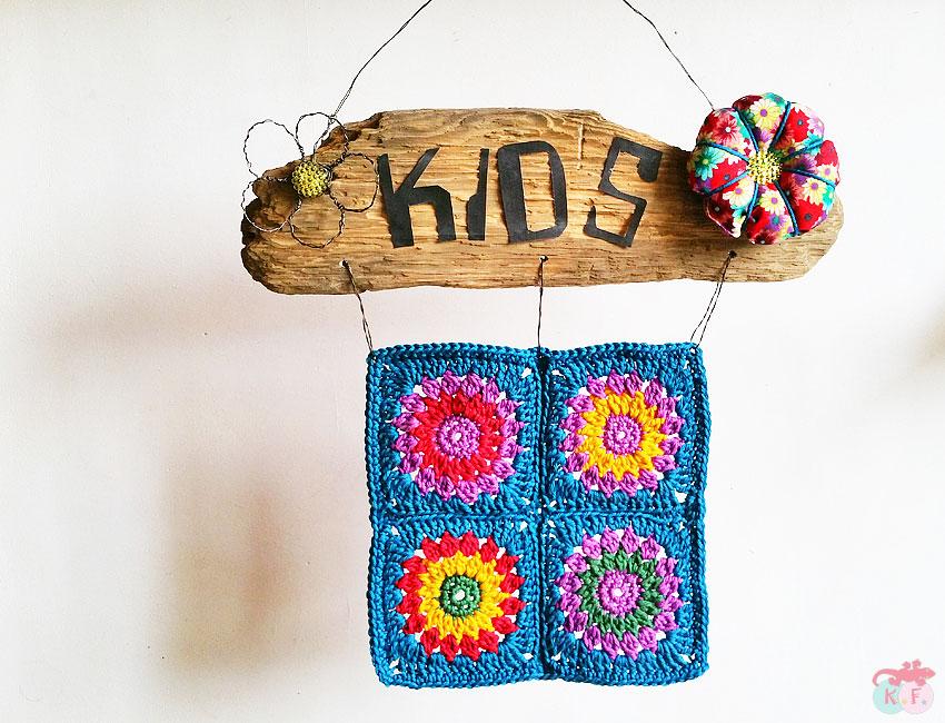Granny square #1 Pancarte Kids DIY