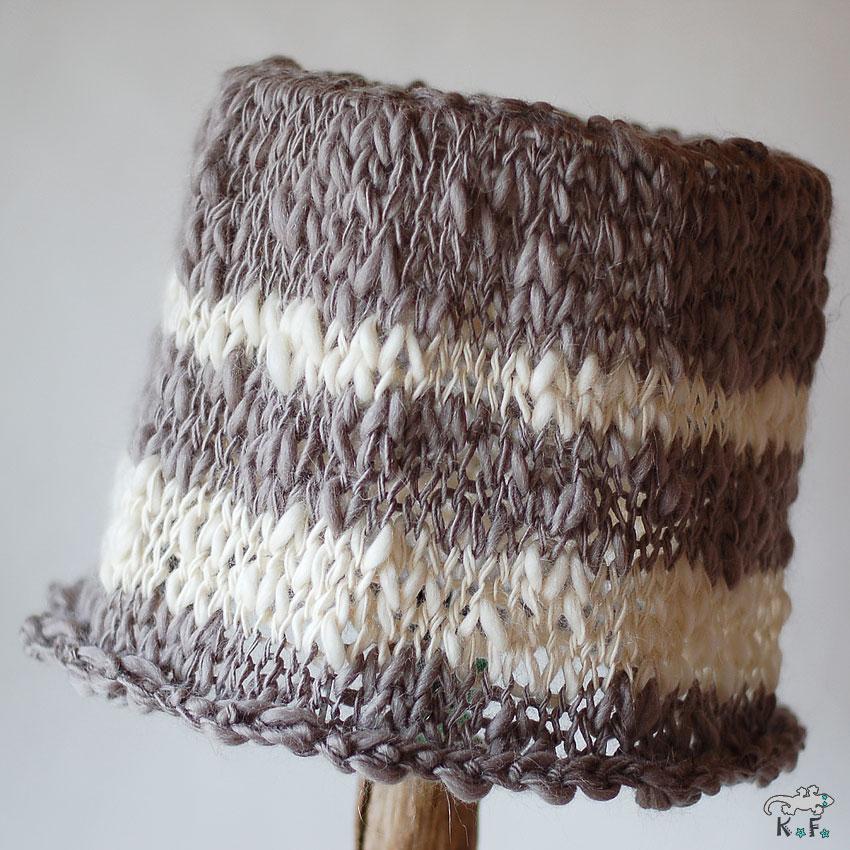 abat-jour tricot nature