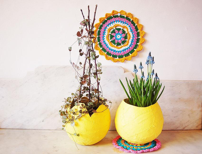 Inspiration végétale et plâtre entre printemps et Pâques