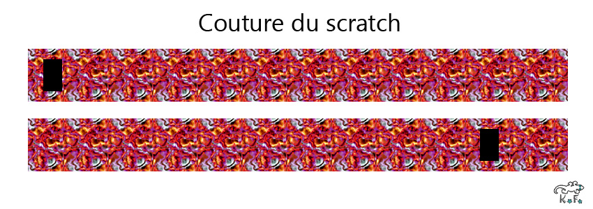 couture du scratch Porte crayon