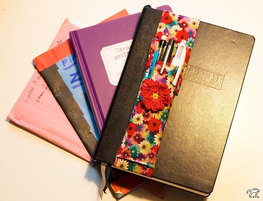carnets et porte crayon DIY en Couture