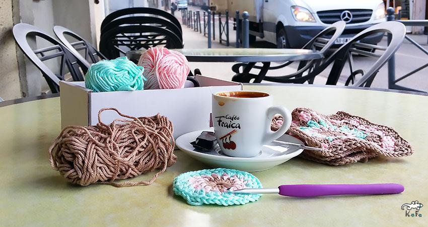 granny square au café