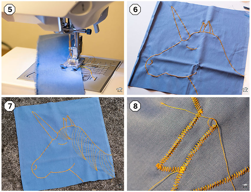 DIY couture Licorne