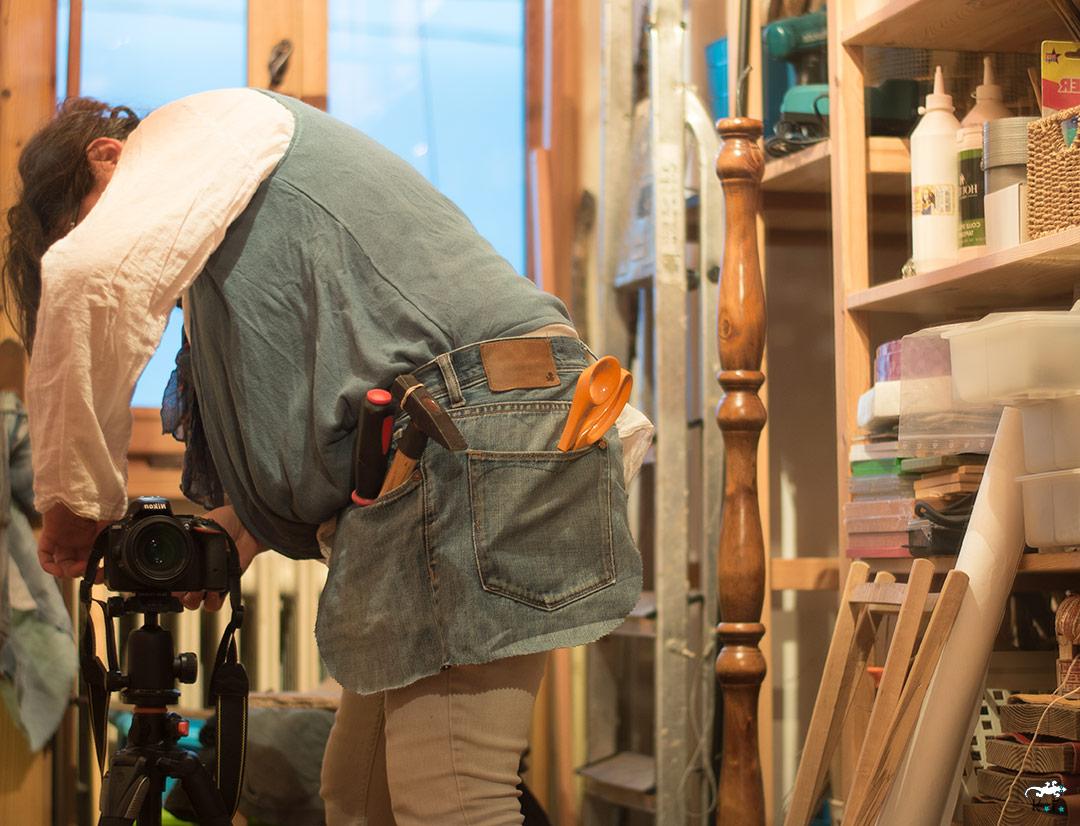 tablier pour l'atelier DIY