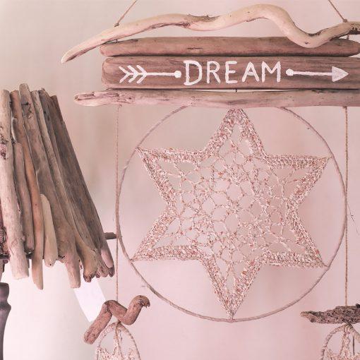 ambiance nature et bois flotté dreamcatcher