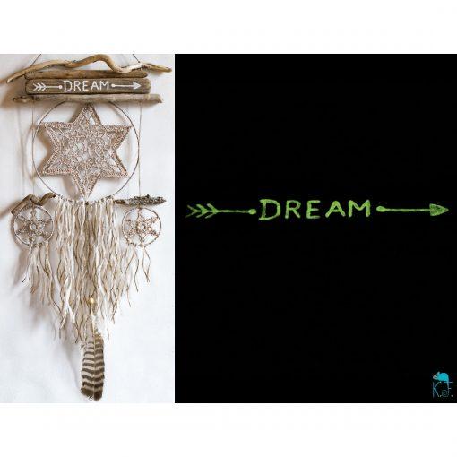 dreamcatcher étoile des bois phosphorescent