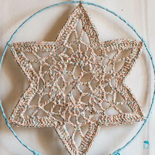 Dreamcatcher lagon phosphorescent avec étoile au crochet