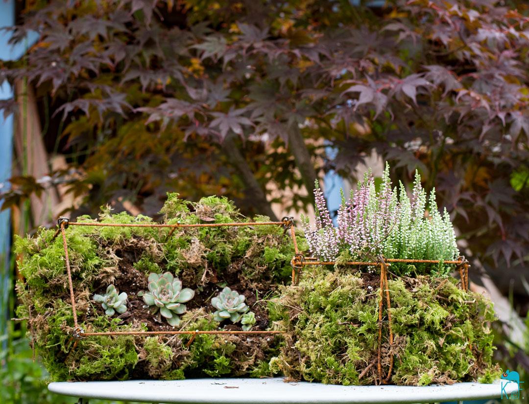 Jardinière en treillis métallique un tuto détournement qui donne du fil à retordre à la déco du jardin