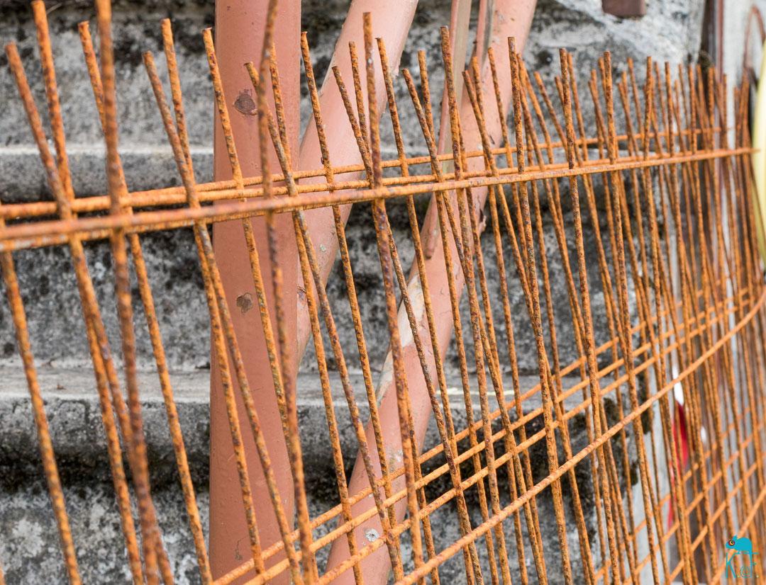 treillis métallique du chantier à la déco