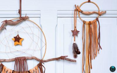 Dreamcatcher cuir et bois flottés, la nouvelle collection rêveuse de Kameleon Factory