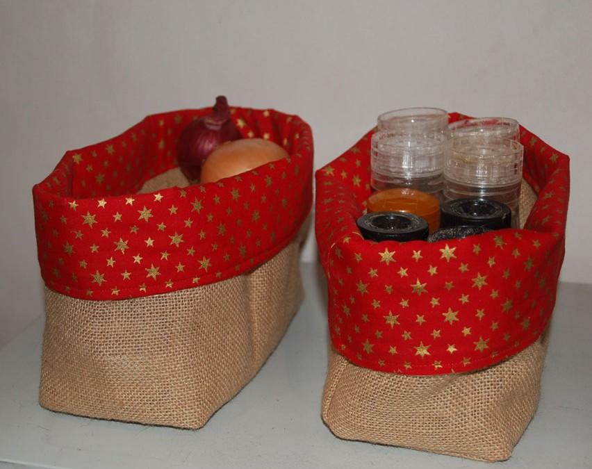 Coudre des sacs ou corbeilles en toile de jute par Kameleon Factorys