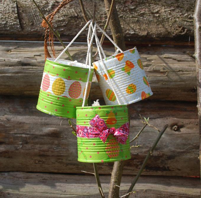 Fabriquer des cloches de Pâque: recyclage boîte de conserve