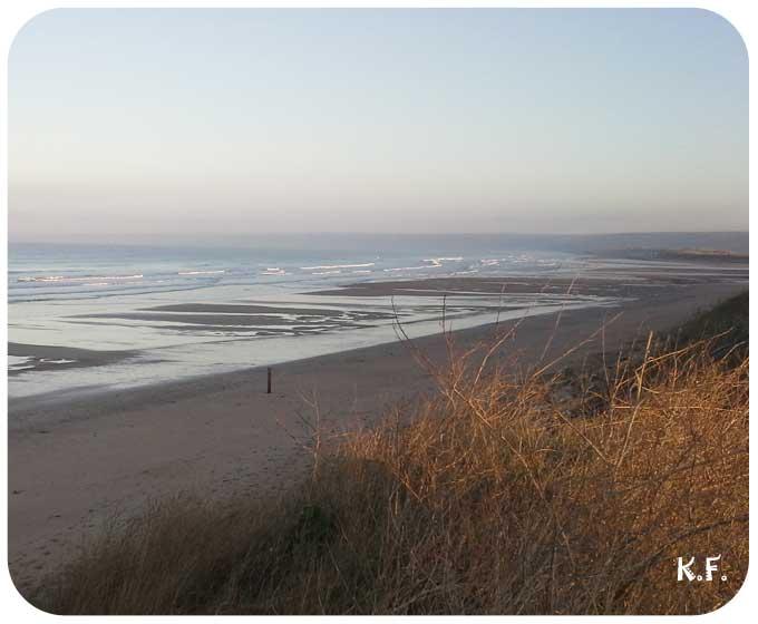 Plage au levé du soleil Cotentin Siouville