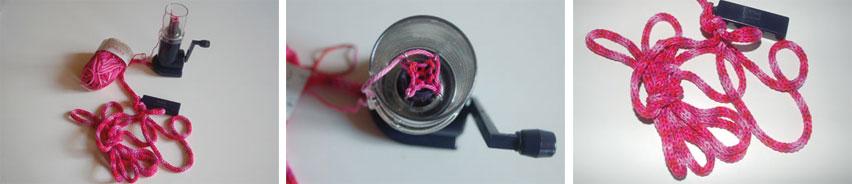 Réaliser des mots en tricotin DIY