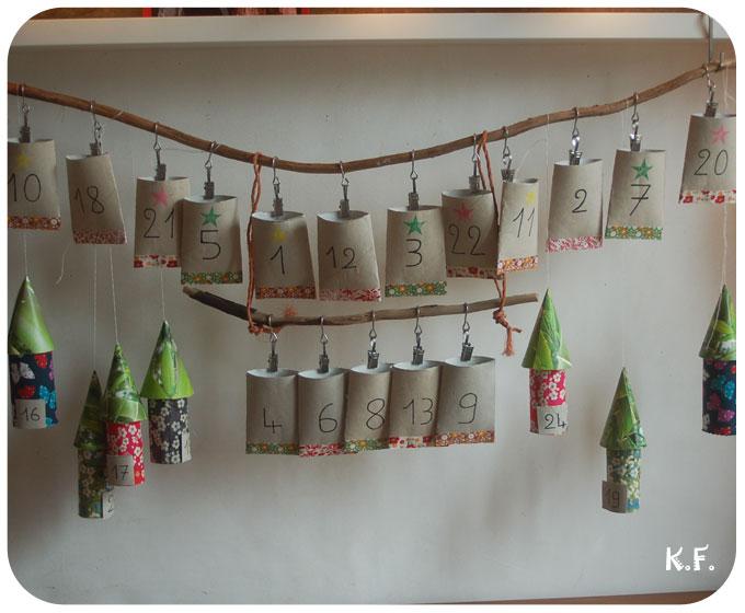 recycler les rouleaux de papier toilette pour Noël