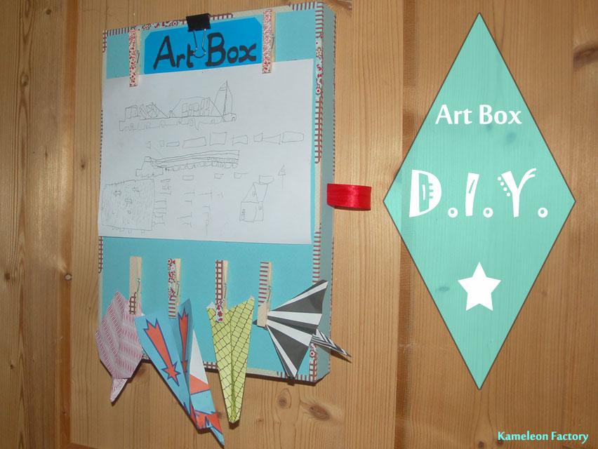 Réaliser une boîte à dessin pour les enfants