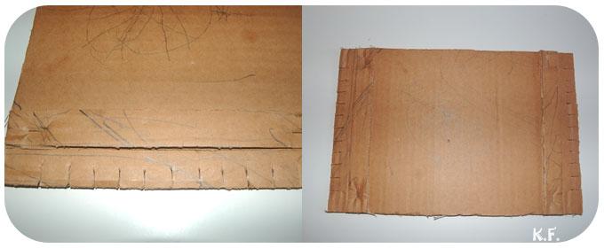 Fabriquer un métier à tisser en carton détail