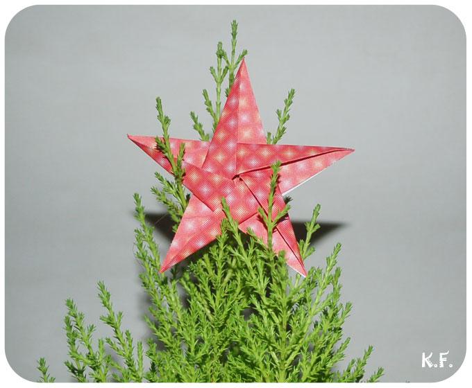 étoile origami