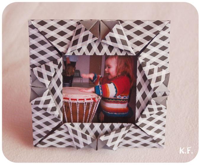 face avant du cadre origami