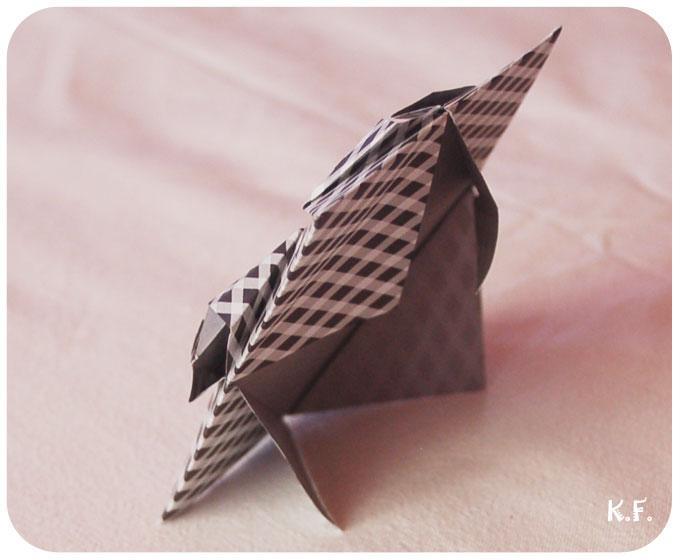 face arrière du cadre origami