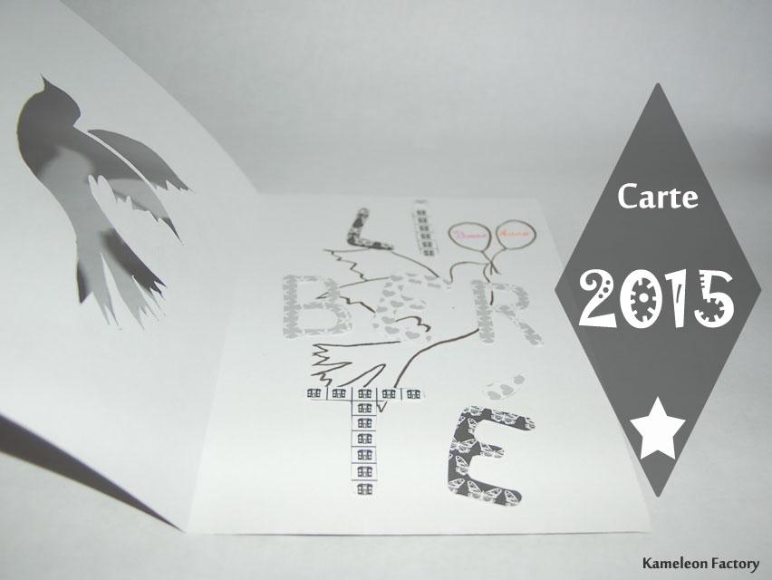 Faire une carte de voeux pour la nouvelle année DIY