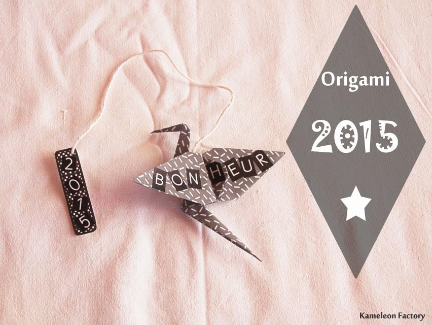 grue origami en marque page