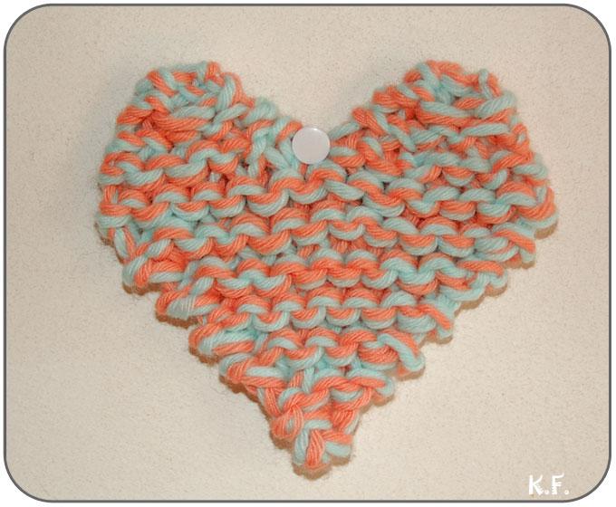 Coeur en tricot