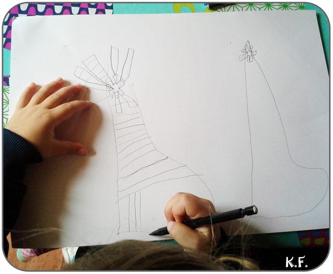 couture et dessin d'enfant