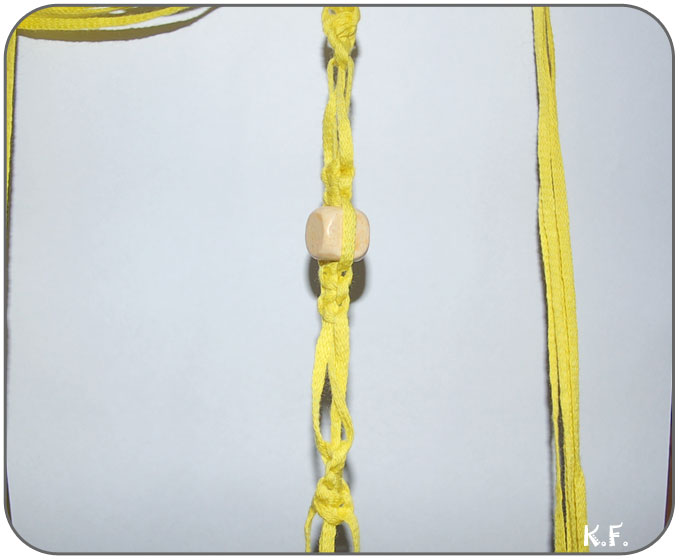 suspension macramé une suspente