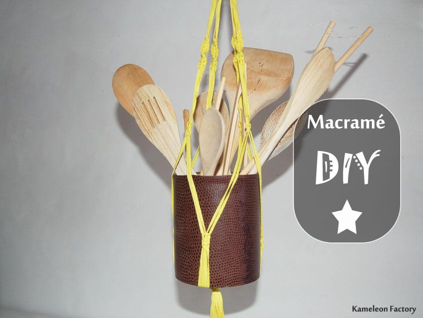 Suspension macramé DIY